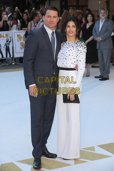 LONDON, ENGLAND - JUNE 30: Channing Tatum and Jenna Dewan Tatum attend the European Premiere of Magic Mike XXL at Vue West End on June 30, 2015 in London, England.<br /> CAP/BEL<br /> &copy;Tom Belcher/Capital Pictures