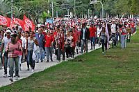 Manifestaçao Ato Fora Temer em marcha a casa de Temer. Sao Paulo. 2016. Foto de Lineu Kohatsu.
