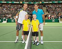 14-02-13, Tennis, Rotterdam, ABNAMROWTT, Roger Federer, Thiemo de Bakker