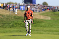 Alex Noran (Team Europe) on the 9th green during Saturday's Foursomes Matches at the 2018 Ryder Cup 2018, Le Golf National, Ile-de-France, France. 29/09/2018.<br /> Picture Eoin Clarke / Golffile.ie<br /> <br /> All photo usage must carry mandatory copyright credit (&copy; Golffile | Eoin Clarke)