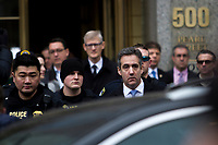 NEW YORK, NY - DECEMBER 12: Michael Cohen, former attorney for President Donald Trump, leaves the federal court after his sentencing hearing on December 12, 2018 in New York City. Cohen was sentenced to 3 years in prison after pleading guilty. (Photo by Pablo Monsalve/VIEWpress)