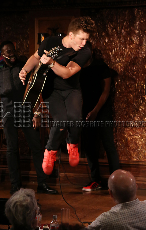 Max Sangerman during the Press Preview Presentation for the new production of 'Smokey Joe's Cafe' at Feinstein's/54 Below on June 27, 2018 in New York City.