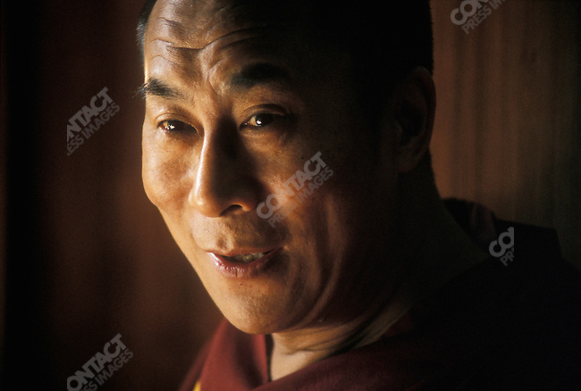 The 14th Dalai Lama, Tenzin Gyatso. Dharamsala, India, December 1987.