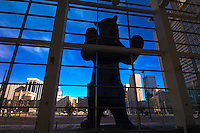 """I See What You Mean"" (Big Blue Bear sculpture by Lawrence Argent), Colorado Convention Center, Denver, Colorado USA"