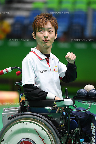 Hidetaka Sugimura (JPN), <br /> SEPTEMBER 15, 2016 - Boccia : <br /> Individual BC2 Quarter final match between Jeong So Yeong - Hidetaka Sugimura <br /> at Carioca Arena 2<br /> during the Rio 2016 Paralympic Games in Rio de Janeiro, Brazil.<br /> (Photo by AFLO SPORT)