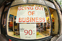 A store going out of business in the Soho neighborhood in New York on Friday, May 25, 2012.  (© Frances M. Roberts)