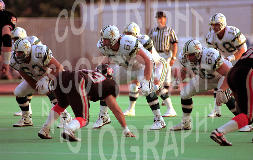 Mike Kiselak Sacramento Gold Miners 1993. Photo John Bradley