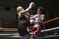 Cherrelle Brown (red shorts) defeats Sylwia Maksym during a Boxing Show at York Hall on 30th June 2018