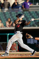 May 31 2009: Michael Mitchell of the Modesto Nuts during game against the Lancaster JetHawks at Clear Channel Stadium in Lancaster,CA.  Photo by Larry Goren/Four Seam Images