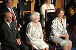 CANBERRA, AUSTRALIA - OCTOBER 21: Queen Elizabeth II and Prince Philip, Duke of Edinburgh attend a reception in the Great Hall Parliament House on October 21, 2011 in Canberra, Australia. The Queen and Duke of Edinburgh are on a 10-day visit to Australia and will travel to Canberra, Brisbane, Melbourne before heading to Perth for the Commonwealth Heads of Government meeting. This is the Queen's 16th official visit to Australia. Photo: Mark Graham