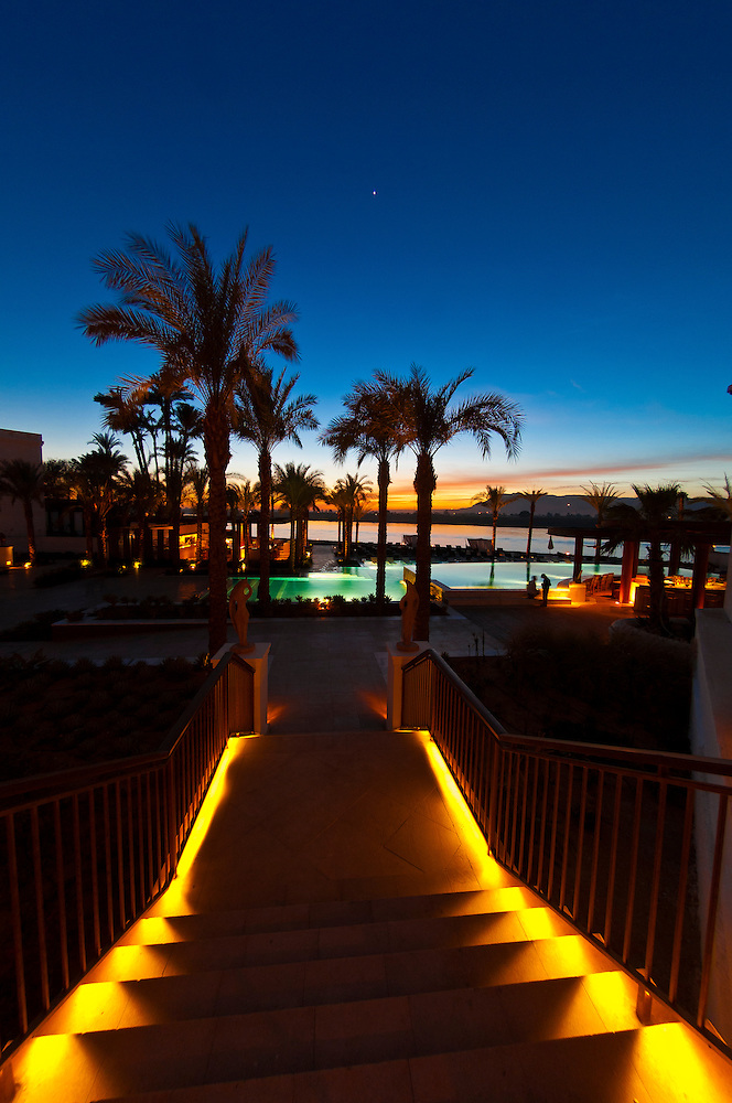 Twilight View Of The Hilton Luxor Resort & Spa On The Nile