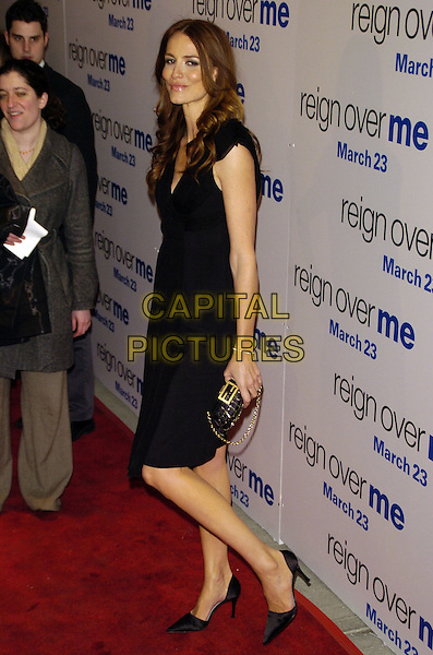 "SAFFRON BURROWS.Premiere of Sony Pictures ""Reign Over Me"" Skirball Center at NYU, 566 La Guardia Place, New York, New York, USA..March 20th, 2007.full length black dress clutch purse .CAP/ADM/BL.©Bill Lyons/AdMedia/Capital Pictures *** Local Caption ***"