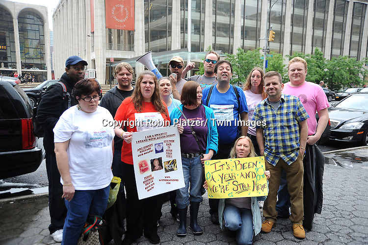 ABC Soap Fans Rally at ABC Upfront to protest the canceling of All My Children and One Life to Live on .May 15, 2012 at Lincoln Center in New York City.