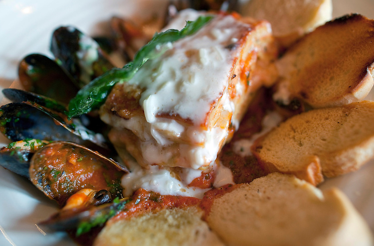 UNITED STATES - MARCH 7: Seafood lasagna at the Boxcar Tavern in Capitol Hill. (Photo By Chris Maddaloni/CQ Roll Call)