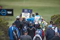 Golf fans during the 3rd round of the VIC Open, 13th Beech, Barwon Heads, Victoria, Australia. 09/02/2019.<br /> Picture Anthony Powter / Golffile.ie<br /> <br /> All photo usage must carry mandatory copyright credit (&copy; Golffile | Anthony Powter)