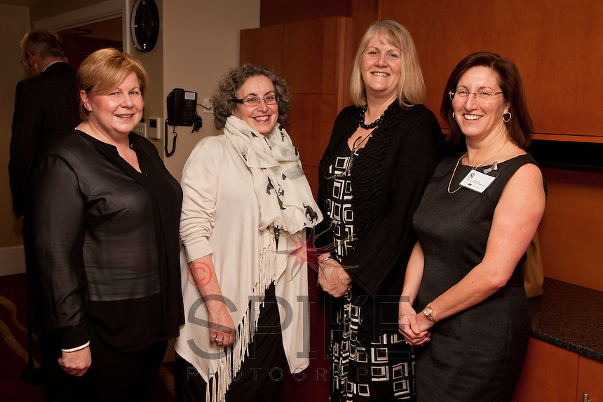 All the ladies! From left are Trisha Hennessey of Park Plaza Hotel, Jennifer Spencer of Experience Nottinghamshire, Sue Dewey of John Van Geest Cancer Research Centre and Susan Cain of Oddie Dalton Wealth Management