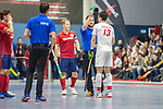 Mannheim, Germany, January 08: During the 1. Bundesliga men indoor hockey match between TSV Mannheim and Mannheimer HC on January 8, 2020 at Primus-Valor Arena in Mannheim, Germany. Final score 5-4. (Photo by Dirk Markgraf / www.265-images.com) *** Nils Gruenenwald #13 of TSV Mannheim