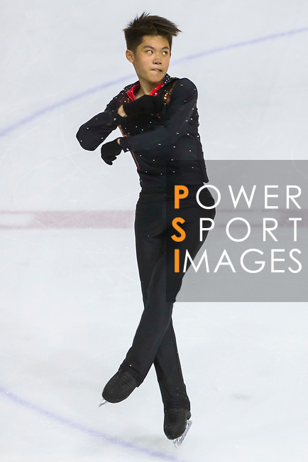 Ho Yu Leung of Hong Kong competes in Junior Men group during the Asian Open Figure Skating Trophy 2017 at Mega Ice on 03 August, 2017 in Hong Kong, China. Photo by Yu Chun Christopher Wong / Power Sport Images