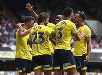 Blackburn Rovers' Bradley Dack celebrates scoring his side's second goal with his fellow team mates<br /> <br /> Photographer Rachel Holborn/CameraSport<br /> <br /> The EFL Sky Bet Championship - Ipswich Town v Blackburn Rovers - Saturday 4th August 2018 - Portman Road - Ipswich<br /> <br /> World Copyright &copy; 2018 CameraSport. All rights reserved. 43 Linden Ave. Countesthorpe. Leicester. England. LE8 5PG - Tel: +44 (0) 116 277 4147 - admin@camerasport.com - www.camerasport.com