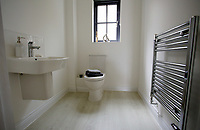 Pictured: Interior view of the bathroom in one of the affordable homes. Wednesday 26 April 2017<br /> Re: Waterstone Homes' most recent property development Howell's Reach, is in Derwen Fawr, Swansea and is made up of 13 luxury family homes, and also includes five affordable homes.
