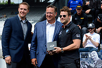 Verizon IndyCar Series<br /> Indianapolis 500 Drivers Meeting<br /> Indianapolis Motor Speedway, Indianapolis, IN USA<br /> Saturday 27 May 2017<br /> Starter's ring presentation: Marco Andretti, Andretti Autosport with Yarrow Honda<br /> World Copyright: F. Peirce Williams