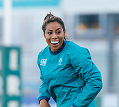 1st February 2019, Energia Park, Dublin, Ireland; Womens Six Nations rugby, Ireland versus England; Sene Naoupu of Ireland warms up prior to kickoff