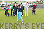 SWING: Morgan Sheehy, Ballybunion, gets into the swing of things in the final of the Kerry Boys Match play Golf Championship against Ed Stack, also from Ballybunion at Ballybunion Golf Club on Friday.