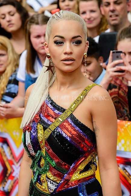 WWW.ACEPIXS.COM<br /> <br /> July 16 2015, London<br /> <br /> Rita Ora at the Red Carpet arrivals for The X Factor Auditions  at Wembley Arena on the July 16, 2015 in London<br /> By Line: Famous/ACE Pictures<br /> <br /> <br /> ACE Pictures, Inc.<br /> tel: 646 769 0430<br /> Email: info@acepixs.com<br /> www.acepixs.com