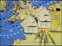 BNPS.co.uk (01202 558833)<br /> Pic: Mullocks/BNPS<br /> <br /> A sinister Nazi board game where players invade Britain using U-Boats, fighter planes and bomber aircraft has emerged for auction which reveals the depths of propaganda during the Third Reich.<br /> <br /> The six player game is called 'Wir fahren gegen Engeland' which translated into English is 'drive against the English'.<br /> <br /> It was designed in a deluded attempt to brainwash and inspire hatred towards the enemy amongst German children.<br /> <br /> The auction takes place on July 6 at Mullocks, in Church Stretton, Shropshire.