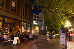 """Views of the historic Gastown neighborhood in downtown Vancouver, British Columbia, Canada.  Pictured here is a statue of """"Gassy Jack,"""" aka John Dighton, an unsuccessful gold miner but ran several bars in the area.  Gastown is named after Mr. Dighton who earned his name """"Gassy Jack"""" from his penchant for storytelling."""