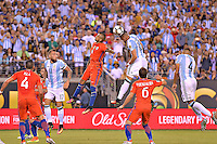 Action photo duringthe match Argentina vs Chile corresponding to the Final of America Cup Centenary 2016, at MetLife Stadium.<br /> <br /> Foto durante al partido Argentina vs Chile cprresponidente a la Final de la Copa America Centenario USA 2016 en el Estadio MetLife , en la foto:Ramiro Funes Mori de Argentina<br /> <br /> 26/06/2016/MEXSPORT/ISAAC ORTIZ