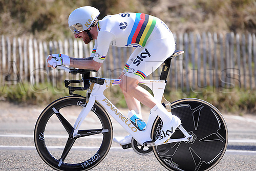 002.04.2015, Flanders, Belgium. Cycling Three Days of De Panne Stage 3.  Bradley Wiggins, winner of the stage 3 time trials