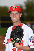 Harrisburg Senators pitcher Brian Dupra (30) poses for a photo before a game against the New Britain Rock Cats on April 28, 2014 at Metro Bank Park in Harrisburg, Pennsylvania.  Harrisburg defeated New Britain 9-0.  (Mike Janes/Four Seam Images)