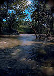Fast flowing water river, Puerto Rico, USA, Caribbean.