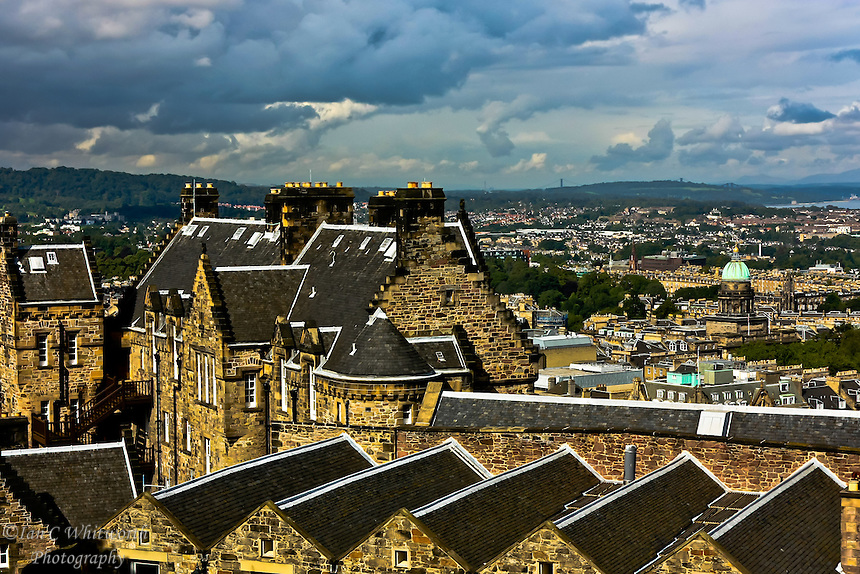 Rooftop view from Edinburgh Castle