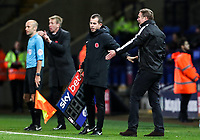 Bolton Wanderers' manager Phil Parkinson remonstrates with fourth official Peter Bankes<br /> <br /> Photographer Andrew Kearns/CameraSport<br /> <br /> The EFL Sky Bet Championship - Bolton Wanderers v Swansea City - Saturday 10th November 2018 - University of Bolton Stadium - Bolton<br /> <br /> World Copyright © 2018 CameraSport. All rights reserved. 43 Linden Ave. Countesthorpe. Leicester. England. LE8 5PG - Tel: +44 (0) 116 277 4147 - admin@camerasport.com - www.camerasport.com