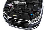 Car stock 2018 Audi Q3  2.0T-FWD-tiptronic-Premium-Plus  5 Door SUV engine high angle detail view
