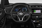 Car pictures of steering wheel view of a 2018 Nissan Leaf N Connecta 5 Door Hatchback