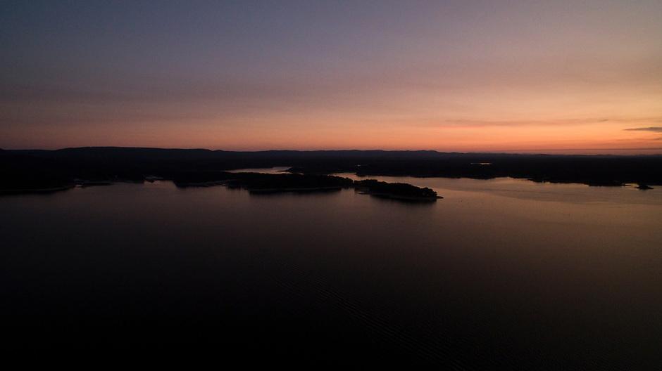 The sun sets on Lake Ouachita, Arkansas on Thursday, Sept. 7, 2017, in Arkansas. (Photo by James Brosher)