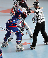 CALI - COLOMBIA - 26-07-2013: Partido de Hockey en Linea Francia V.S. Republica Checa durante los IX Juegos Mundiales Cali julio 26 de 2013.(Foto: VizzorImage / Luis Ramirez / Staff.) Match of Hockey in Line between France and Chec Republic during the IX World Games Cali July 26, 2013. (Photo: VizzorImage / Luis Ramirez / Staff.)
