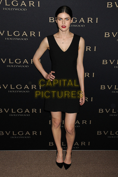 LOS ANGELES, CA - FEBRUARY 25 - Alexandra Daddario. BVLGARI &quot;Decades of Glamour&quot; Oscar Party held at Soho House on 25th February 2014.<br /> CAP/ADM/BP<br /> &copy;Byron Purvis/AdMedia/Capital Pictures
