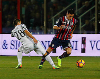 Tomas Rincon  and Alexandar Tonev  during the  italian serie a soccer match,between Crotone and Juventus      at  the Scida   stadium in Crotone  Italy , February 08, 2017