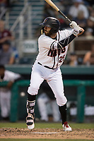 Modesto Nuts right fielder Nick Zammarelli III (25) at bat during a California League game against the Lake Elsinore Storm at John Thurman Field on May 12, 2018 in Modesto, California. Lake Elsinore defeated Modesto 4-1. (Zachary Lucy/Four Seam Images)