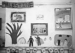 Shatila, UNRWA camp. &quot;Beit Atfal As Sumood&quot;, a social aid NGO, takes care of the children. Here, the pin board of the Kindergarden. Children's drawings.<br />  <br /> Chatila, camp de l'UNRWA. &laquo;Beit Atfal As Soumoud&raquo;, une ONG d'aide sociale &agrave; l'int&eacute;rieur du camp prend en charge les enfants. Ici le tableau d'accrochage de la maternelle. Des dessins d'enfants...