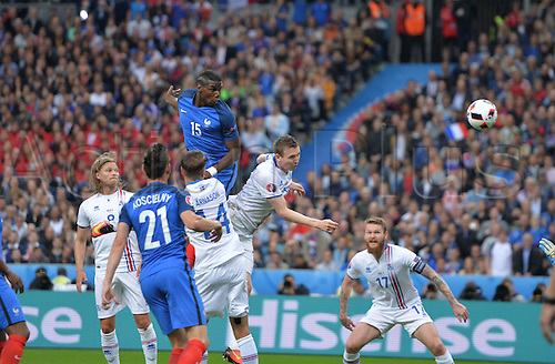 03.07.2016. St Denis, Paris, France. UEFA EURO 2016 quarter final match between France and Iceland at the Stade de France in Saint-Denis, France, 03 July 2016.  Goal scored for 2-0 by Paul Pogba (fra)