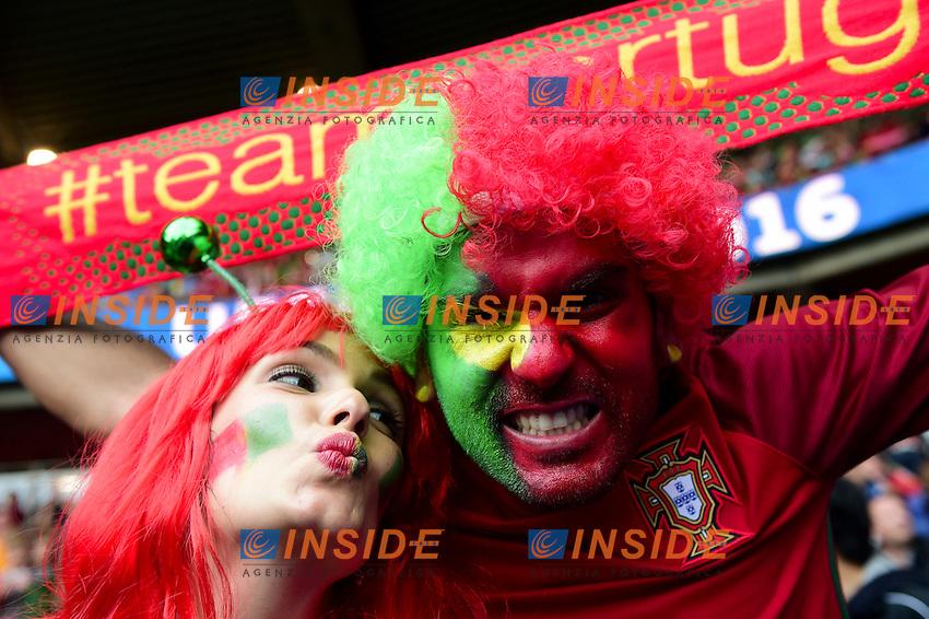Tifosi Portogallo Fans Portugal<br /> Paris 18-06-2016 Parc Des Princes Football Euro2016 Portugal - Austria / Portogallo - Austria Group Stage Group F. Foto JB Autissier / Panoramic / Insidefoto