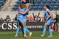 Bridgeview, IL - Saturday May 06, 2017: Casey Short, Julie Johnston Ertz, Vanessa DiBernardo during a regular season National Women's Soccer League (NWSL) match between the Chicago Red Stars and the Houston Dash at Toyota Park. The Red Stars won 2-0.