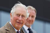 2020 02 21 Prince Charles, Aston Martin Lagonda factory in St Athan, south Wales, UK