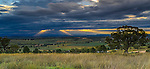 The magnificent New England countryside at sunset from the Who'd-A-Thought-It Lookout in Quirindi in New South Wales, Australia.