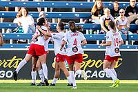 Bridgeview, IL - Sunday May 26, 2019: Chicago Red Stars vs Washington Spirit at SeatGeek Stadium.